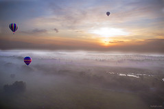 It was magical (Heilah Alnasser) Tags: mist sunrise orlando surreal aerial hotairballoon fl magical ballooning 2010 heilah heilahalnasser