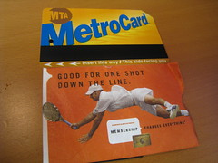 "Amex Metro Card - ""Good for one shot down..."