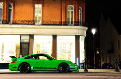 Porsche 997 GT3RS (Laurens Grim) Tags: green london night speed dark photography nikon grim 911 engine fast automotive porsche rims laurens rs supercar sportscar 2010 horsepower gt3 997 18105 d90 gt3rs