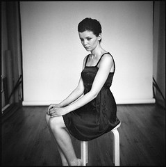 Just Summer X (__Daniele__) Tags: portrait bw 120 6x6 film girl monochrome delta hasselblad 400 sw analogue ilford