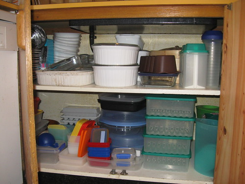 Tidy Tupperware. And stuff