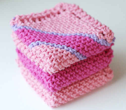 Pink dishcloths