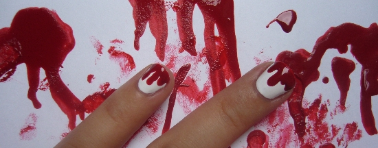 Horror Nails Nail Art Design HM Love at First Sight Orly Poison Apple