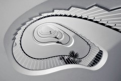 a beauty in white (sureShut) Tags: white berlin architecture stairs treppe architektur form kurven curce treppenauge