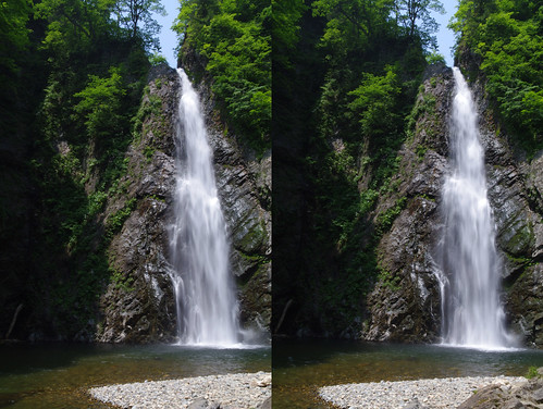 The second fall of Anmon falls, 3D view