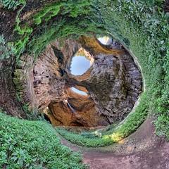Devetaki cave, Bulgaria (geopalstudio) Tags: light panorama eyes nikon little 360 beam bulgaria planet cave 8mm dri hdr d60 samyang devetaki promoteremotecontrol