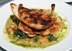 Brick cooked chicken (theqspeaks) Tags: california ca travel summer food white brick chicken saint st canon lunch restaurant beans eating plate august eat valley meal napavalley napa helena local cooked tamron f28 spinach sthelena winecountry sustainable 2010 farmstead cannelini pistou sainthelena bloomsdale 1750mm bloomsdalespinach cannelinibeans t1i tamronspaf1750mmf28xrdiiivcldasphericalif farmsteadrestaurant brickcooked