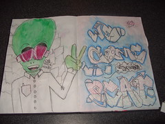 Outa this world part 2 (Nerfoner_13) Tags: graffiti peace leno vents blackbook voe nerfoner voeone