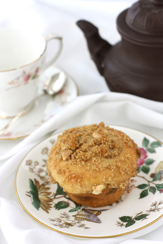 White Chocolate & Ginger Coffee Cake Muffin Recipe