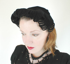 40s to 50s Evelyn Varon felt hat (denisebrain) Tags: vintagehat evelynvaron 40shat