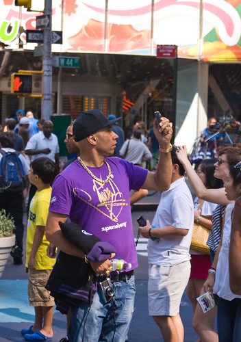 Goldie in Times Square