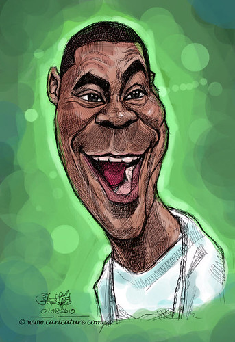 digital caricature of Tracy Morgan - 1 small