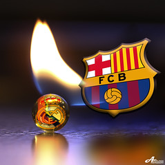 FC Barcelona vs Real Madrid 2011.. (ZiZLoSs) Tags: barcelona madrid macro cup canon real fire eos semi spanish final 7d april usm fc f28 league champions aziz fcb seme classico 2011 ef100mmf28macrousm abdulaziz  ef100mm zizloss  3aziz canoneos7d almanie abdulazizalmanie httpzizlosscom