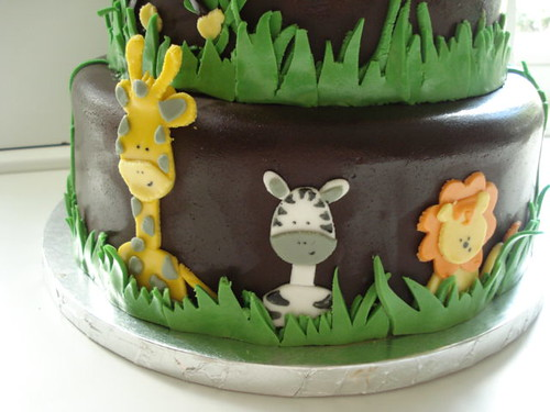 Safari Animal Baby Shower Cake All Three A Photo On Flickriver
