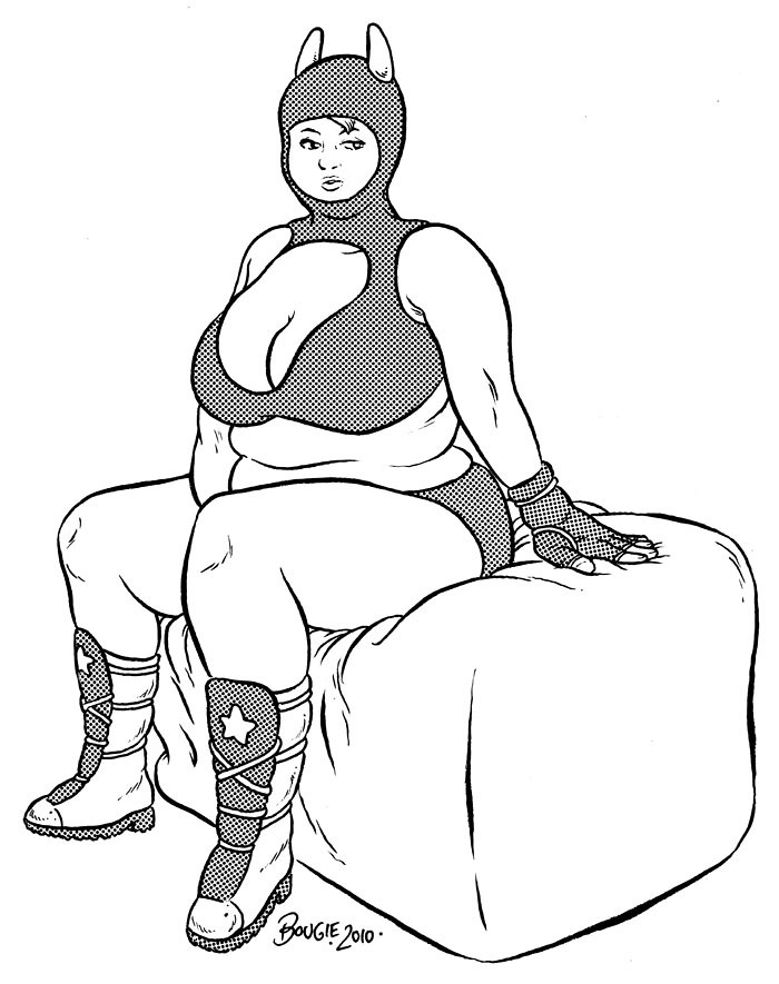 costumed chubby girl sits on squooshy cube shared swing with shad Panty Soaking 4915159836 8f90e749b1 b