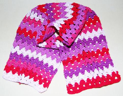Grannystripe scarf WIP 1