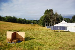 Hay cubicles and solar panels