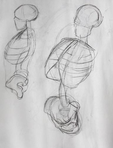 Anatomical Life Drawing Coffee Table Tv