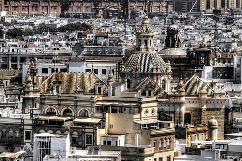 A Seville church. Una iglesia  de Sevilla.