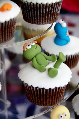 sesame street cupcakes