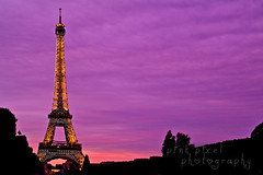 Standing tall~ (Pink Pixel Photography (f.k.a. Sunny)) Tags: longexposure pink sunset sky paris france eiffeltower toureiffel iloveyou eiffelturm sweety langzeitbelichtung ndfilter graufilter imissparis