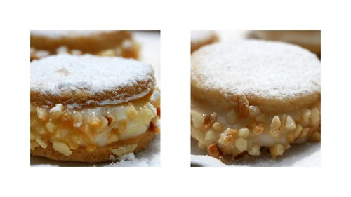 mini deliziose with ricotta-lemon cream and hazelnuts