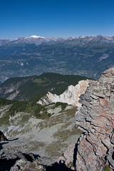 View from the Illhorn on the Illgraben and Rhone valley Photo