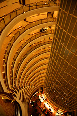 Jin Mao Tower 18 (David OMalley) Tags: china city urban skyline architecture modern shanghai future   pudong hitech worldfinancialcenter futuristic jinmaotower orientalpearltower futurist  megacity    shanghaiworldfinancialcenter