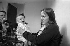 Nathaniel and Faith (REALJimBob) Tags: bw baby film faith greenwich stuart nathaniel expiredfilm 135film ilforddelta400professional camera:model=asahipentaxk1000 dp400 hoyahmcwideauto28mmf28