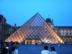 The Blue Hour ... The Louvre Pyramid (peggyhr) Tags: blue friends sky people paris france lights louvre steel bluehour glasspyramid aphoto engineeringasart blueribbonwinner cournapoleon mywinners maincourtyard peggyhr exemplaryshots louvrepalace 1309a