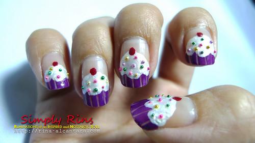 Nail Art Cupcakes 09