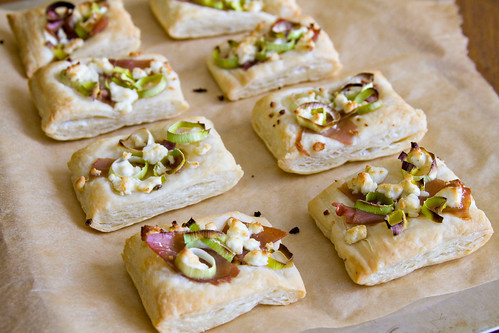 Leek and Prosciutto Puff Pastries - 5