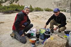 Chefs at work (Marc Briggs) Tags: california sierra backpacking backpack sierranevada sunsetlake dayhike easternsierra sabrinalake dsc0027b donkeylake baboonlakes