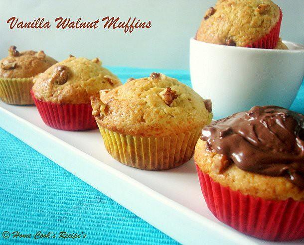 Vanilla Walnut Cupcakes