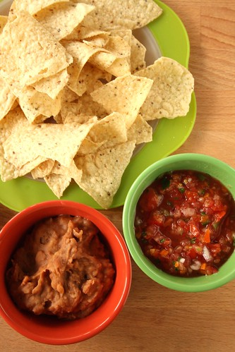 Ranch Bean Dip with Homemade Salsa