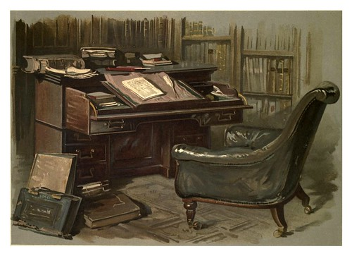 002-Sillon y escritorio de Walter Scott-Abbotsford…1893-ilustrado por William Gibb