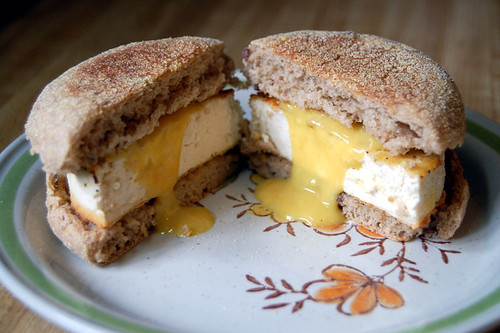 tofu breakfast sammich