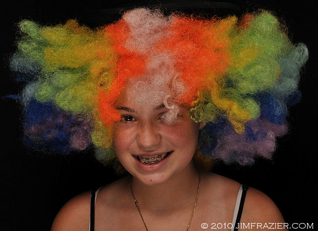 Rachel in a Clown Wig