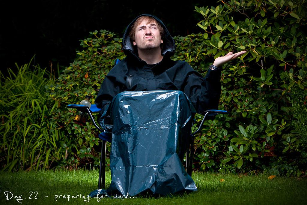 Self Portrait, Project 365, Strobist, 022/365, rain, day 22