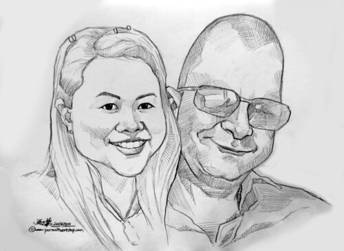 couple pencil portraits 200810