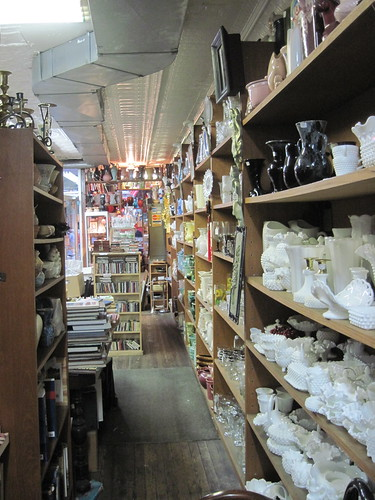 Aisles of Antique Store
