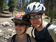Climbergirl & Hubby Mountain Biking Portrait