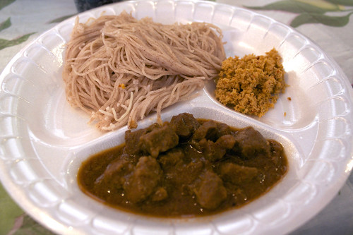 idiappam with mutton curry