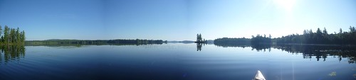 South end of Little Tupper lake in the morning