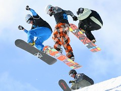 Getting air off the Wu-Tang in the Men's Snowboard Boardercross Finals - The Brits, Laax 2010 (bobaliciouslondon) Tags: world snow ski sunshine march flying tour air final finals snowboard nitro wutang championships wu airtime height laax tang burton 2010 kicker brits ttr snowboarders boardercross thebrits canonef70200mmf4lusm march2010 swatchttr britishskiandsnowboard menssnowboarding foursnowboards 4snowboards