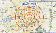 Downtown & Proximity in Google Maps