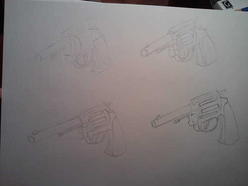 Practice Gun Sketch - from comics the marvel way