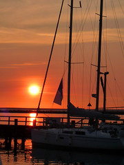 Good morning sunshine (The sixt day) Tags: morning sunset sea water healthy warnemnde friend sailing wishes baot