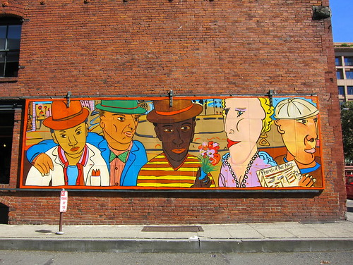 P. Square's Post Alley Mural