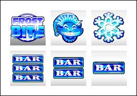 free Frost Bite slot game symbols